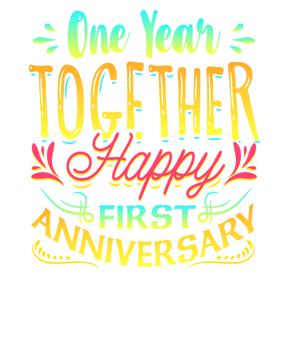 Happy 1st Anniversary One Year Together Shower Curtain.