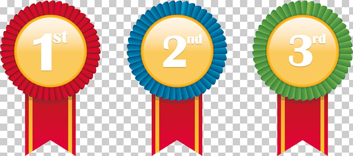 Medal Prize Icon, Prizes, 1st, 2nd, and 3rd ribbon PNG.