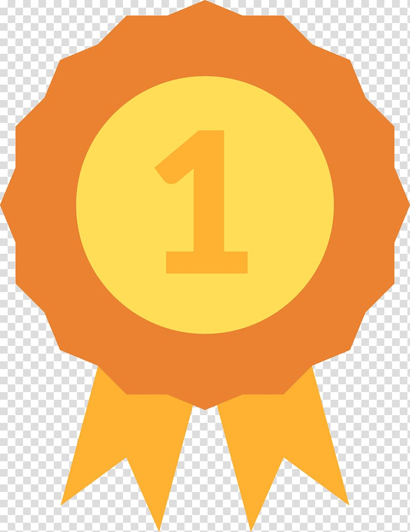 Ribbon with 1 text , Prize , First prize diagram transparent.