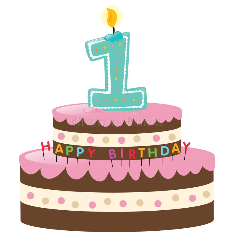 First Birthday Cake Clipart.