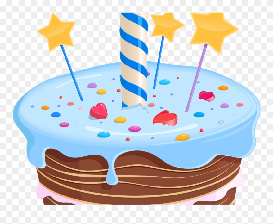Birthday Cake Clipart Fancy.