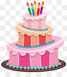 Birthday Cake Clip Art PNG.