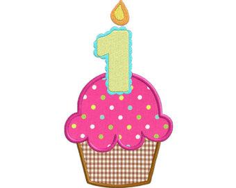 1st Birthday Cupcake Clipart.