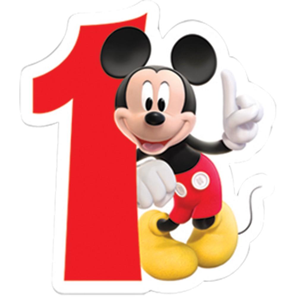 Disney birthday candle number 1.