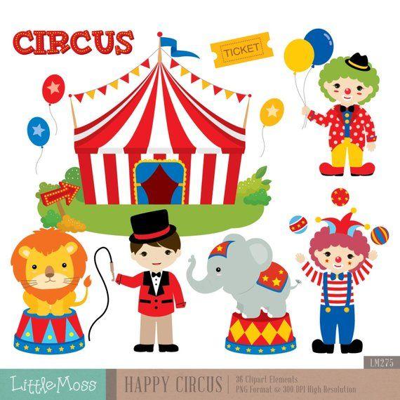 Circus Digital Clipart Circus Clipart Carnival Clipart.