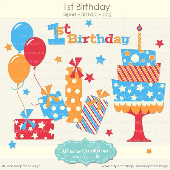 1st birthday clipart boy Clipground