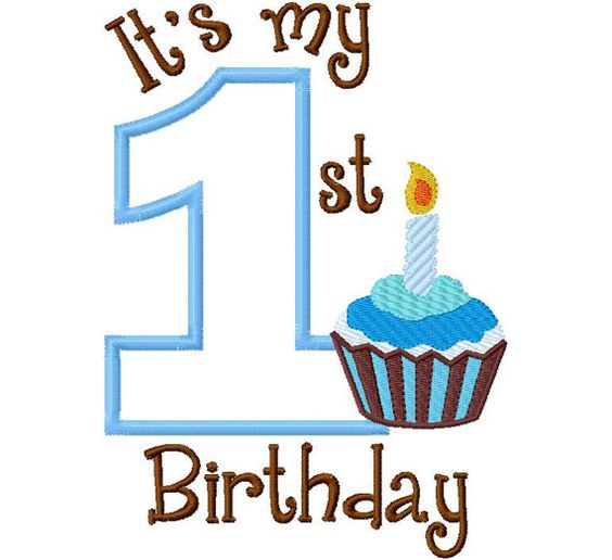 My first birthday clipart.