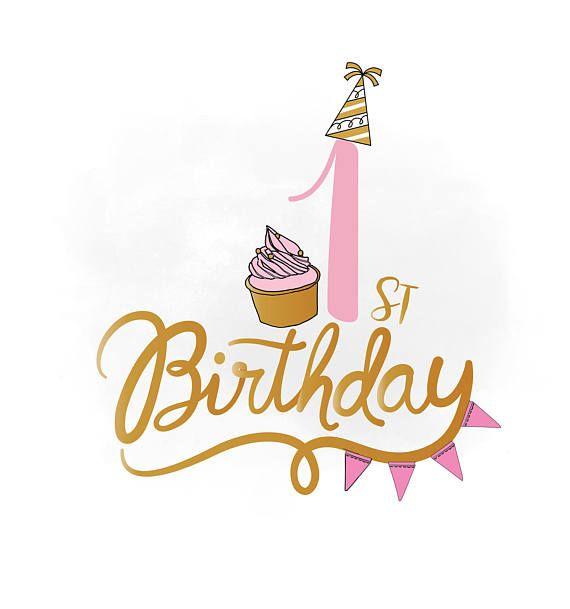 1st birthday svg clipart ba girl birthday quote birthday 1st.