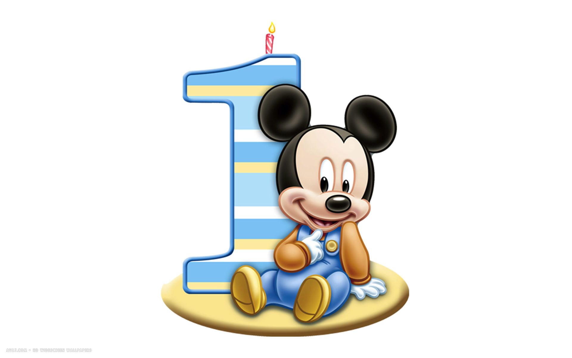Baby Mickey Mouse 1st Birthday Clip Art Clipart Panda Free Clipart.