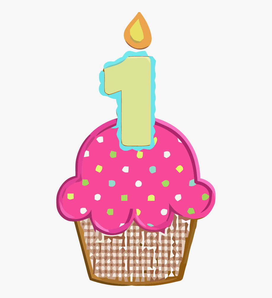 1st Birthday Cupcake Clipart Picture.