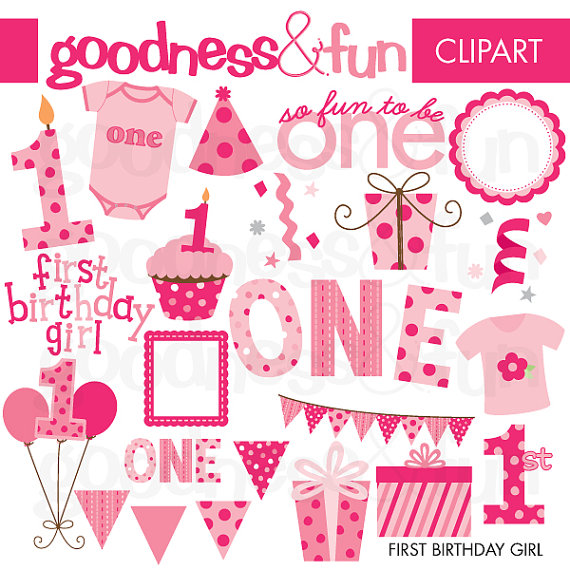 Free First Birthday Cliparts, Download Free Clip Art, Free Clip Art.