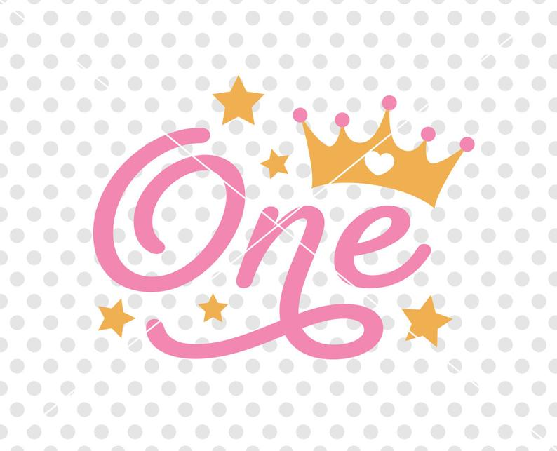 First Birthday SVG DXF Cutting File, One Birthday Svg Dxf Cutting FIle,  Birthday Girl Svg Cut File, Birthday Clipart, Number Birthday Svg.