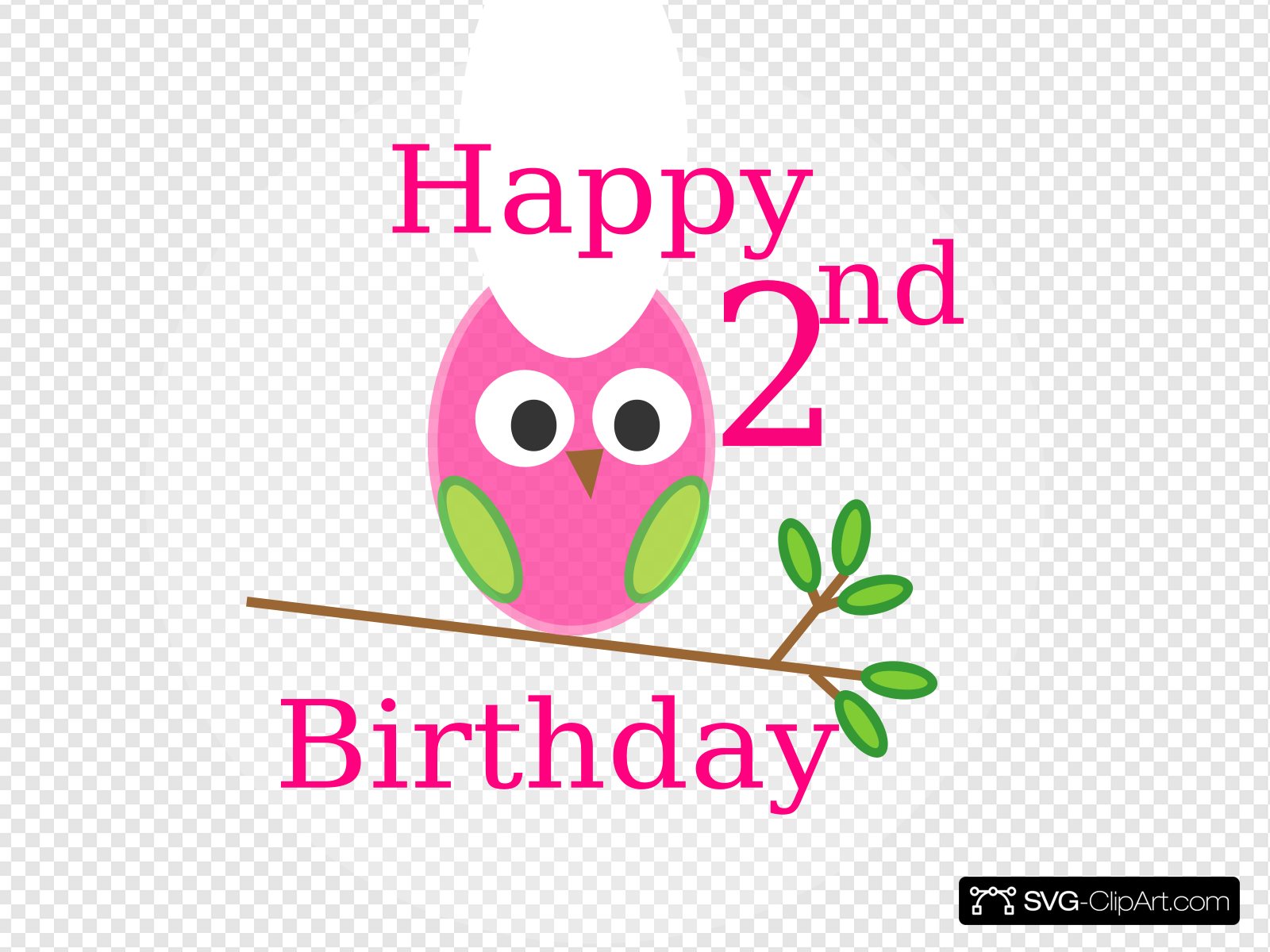 Owl 1st Birthday Clip art, Icon and SVG.