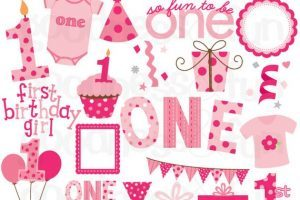 1st birthday girl clipart 4 » Clipart Portal.