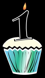1st Birthday Cupcake Clip Art.