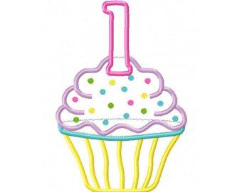 First birthday cupcake clipart.
