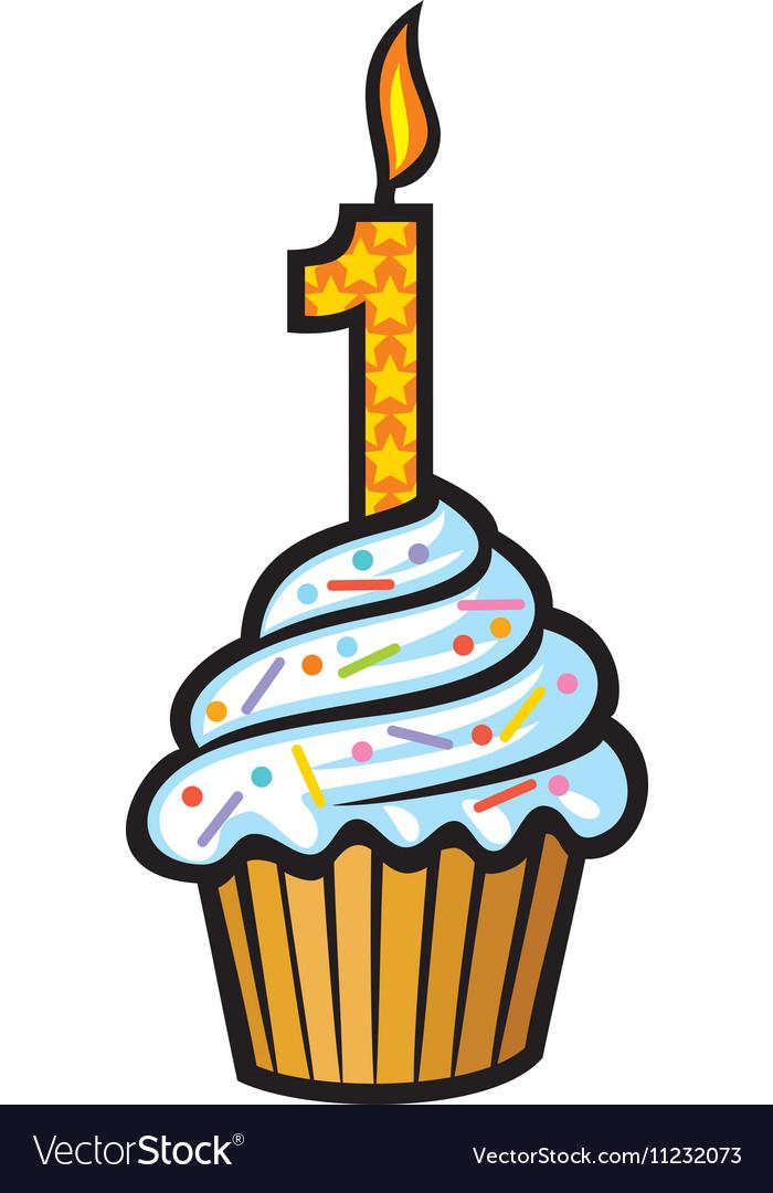 1st Birthday Cupcake.