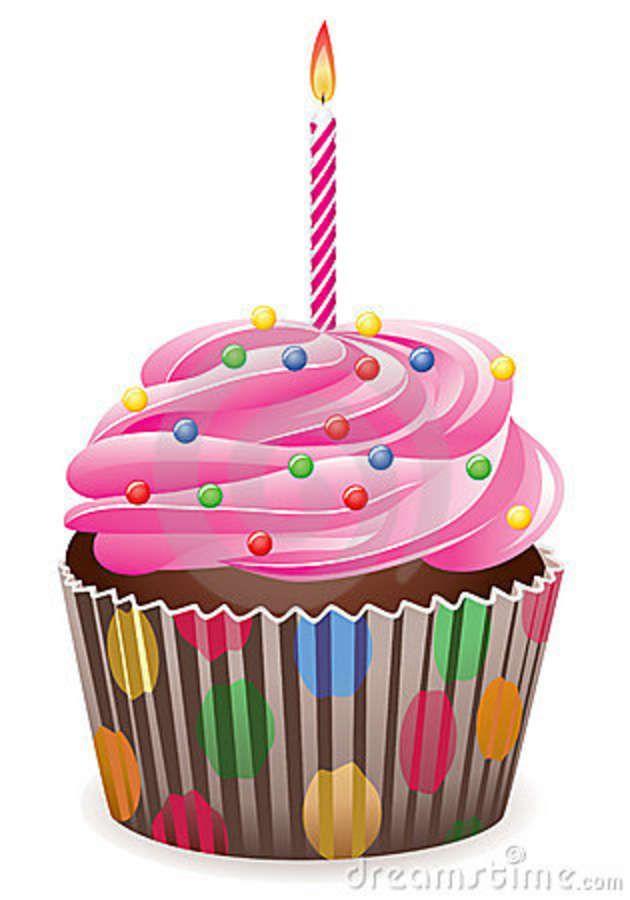 Birthday Cupcake Clipart.
