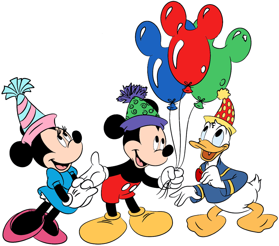 Disney Birthdays and Parties Clip Art.