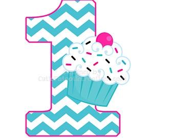 1st Birthday Girl Clipart.
