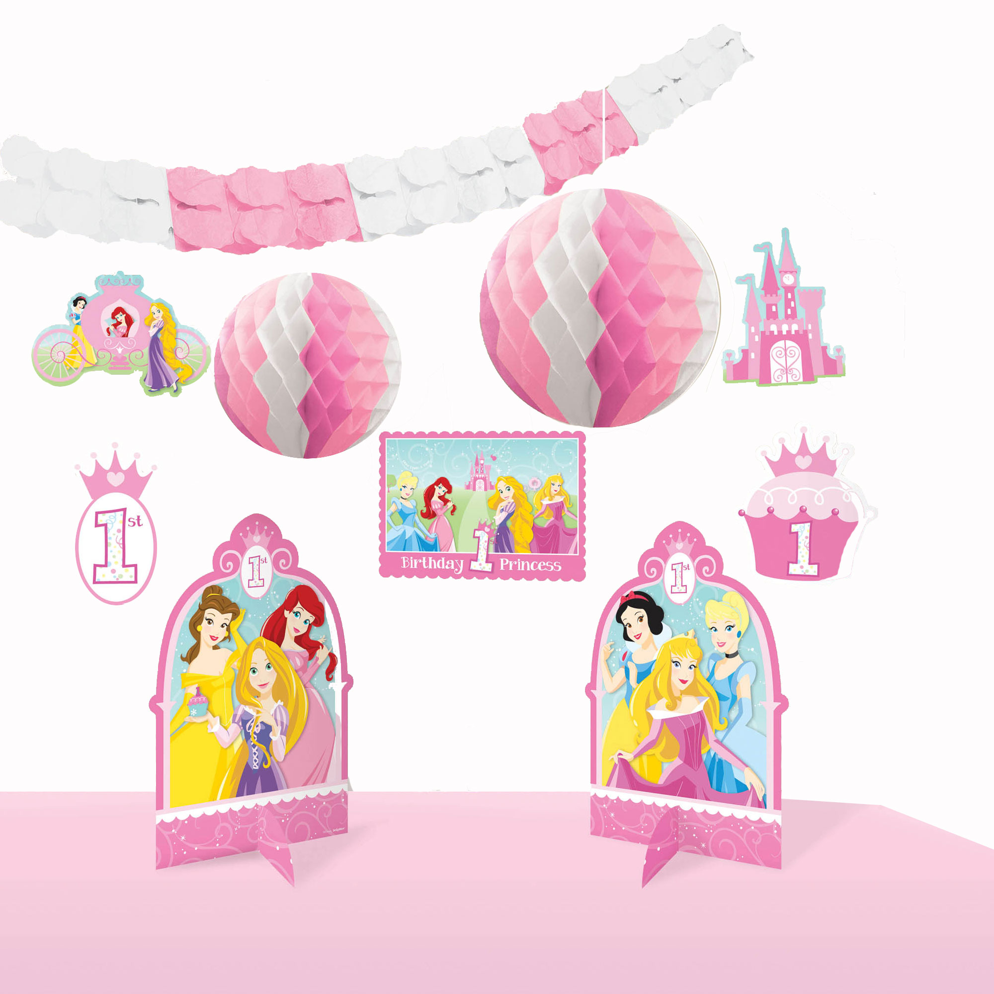 Disney Princess 1st Birthday Decorating Kit.