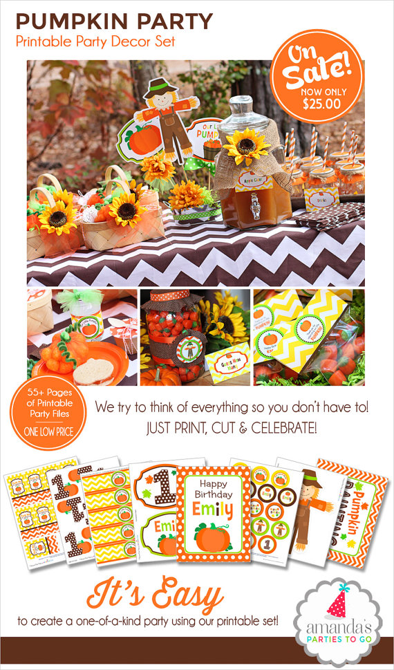 Pumpkin Patch Party Printable.
