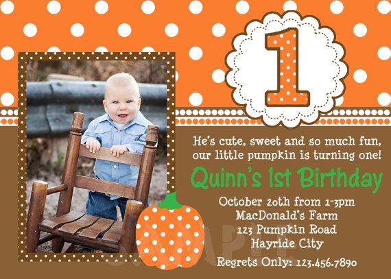 17 best ideas about Pumpkin 1st Birthdays on Pinterest.