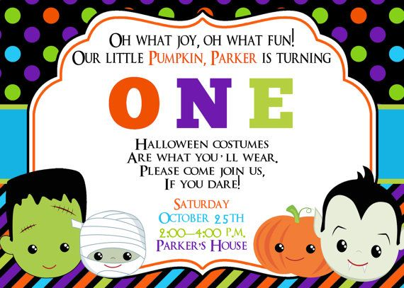 25+ best ideas about Halloween First Birthday on Pinterest.
