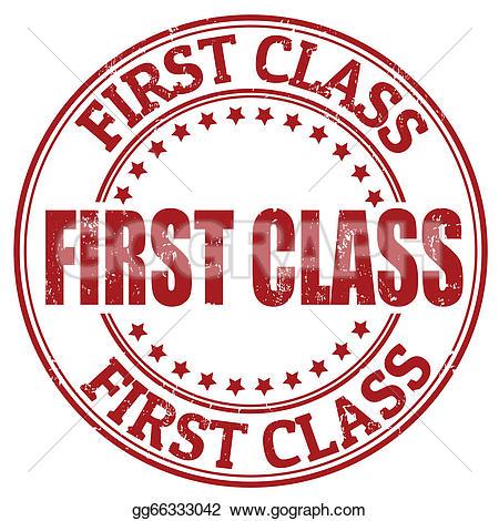 First Class Clip Art.