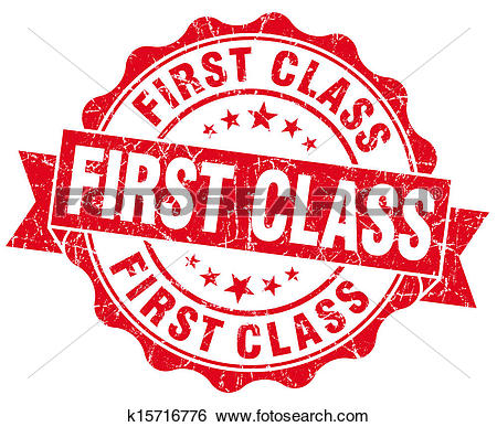Clip Art of First Class on an Airplane u18142682.