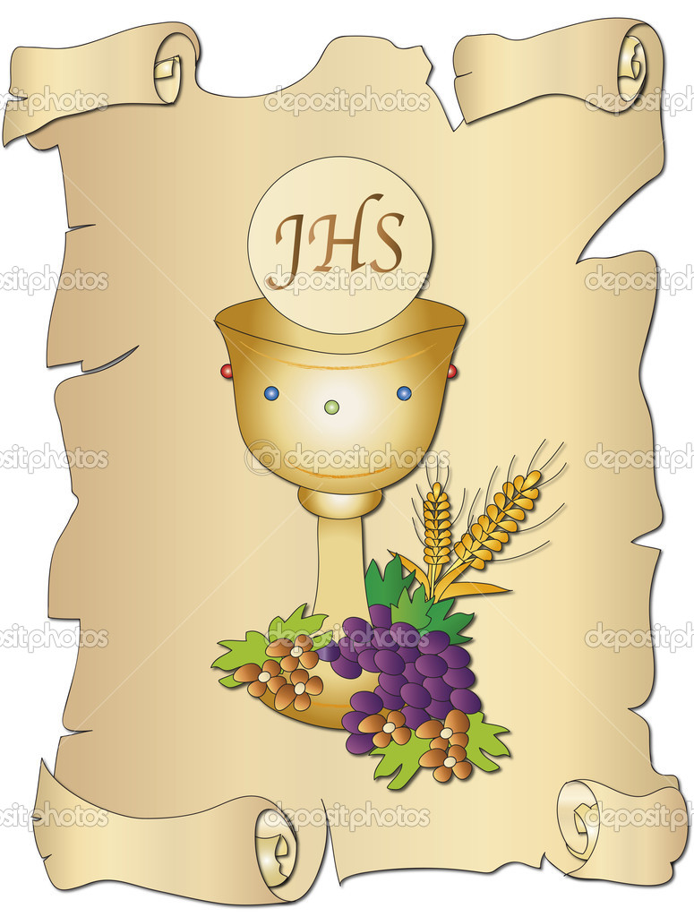 1069 Communion free clipart.