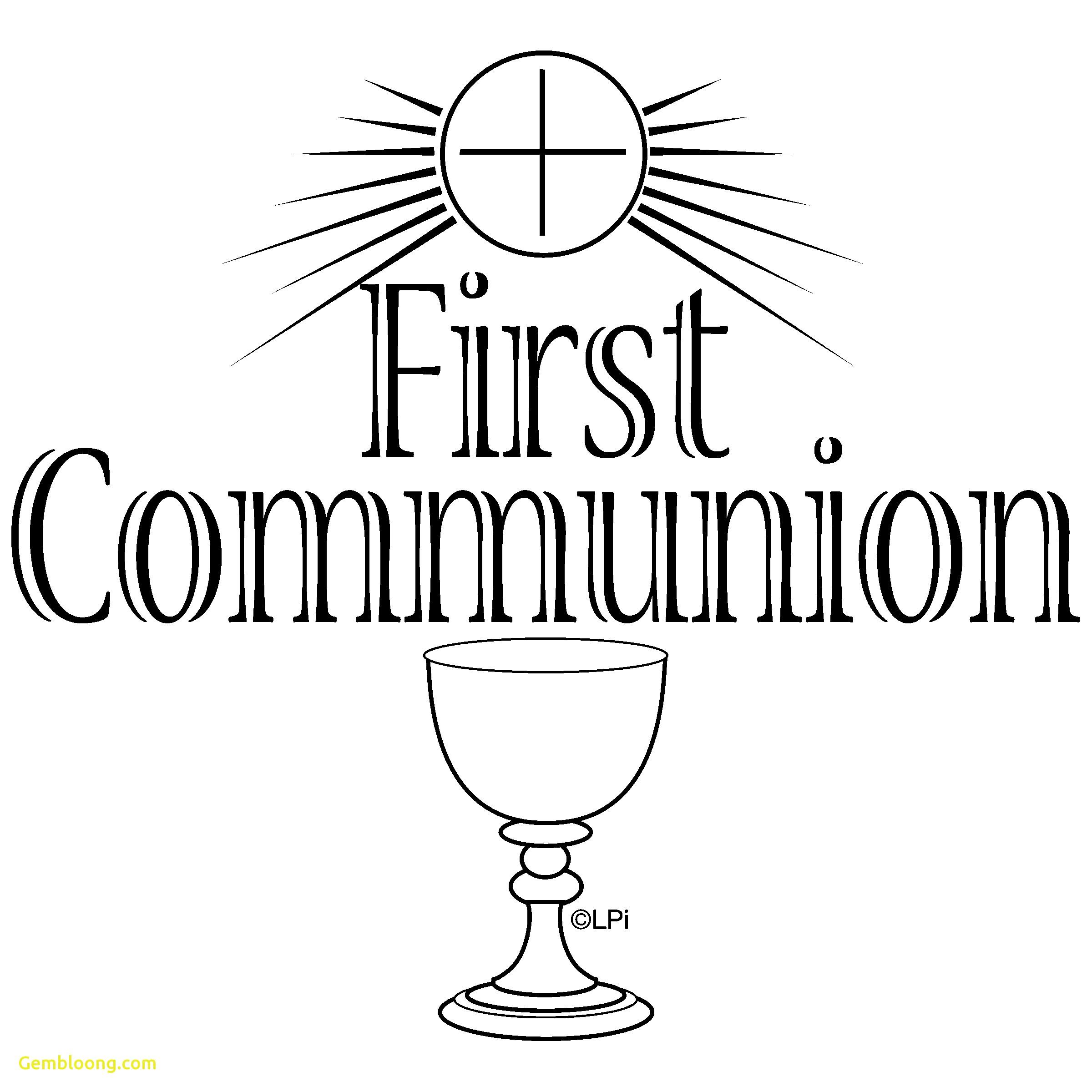 1st Communion Clipart.