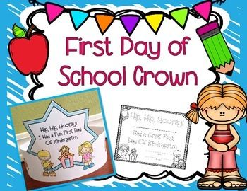 FREE First Day of School Crowns.