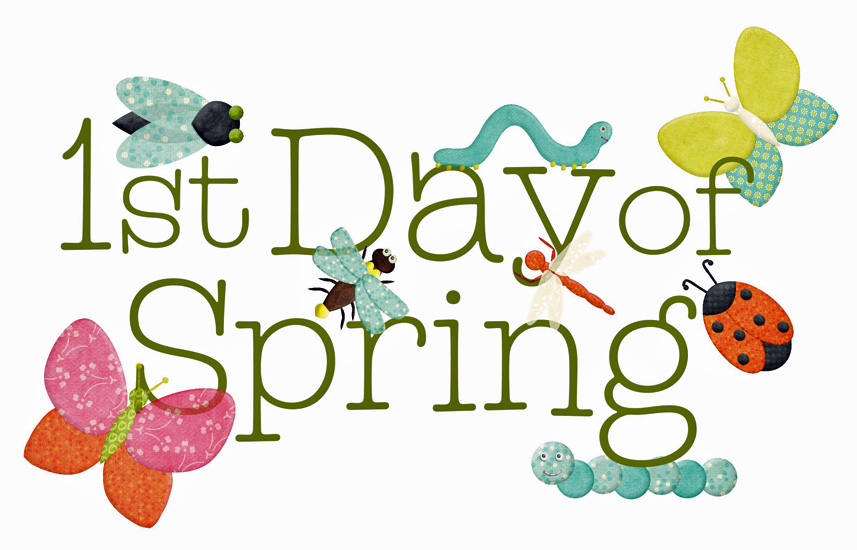 1st Day Of Spring Clipart.