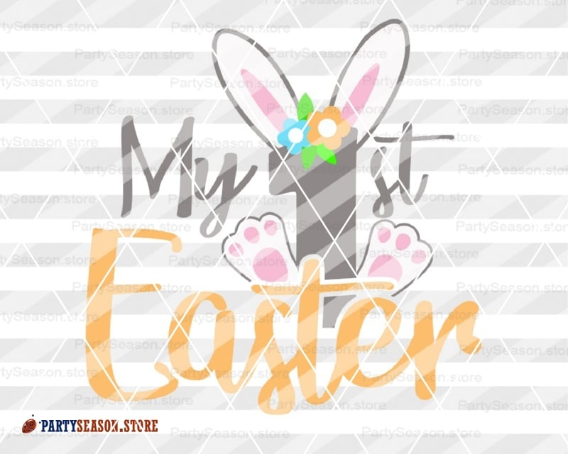 Easter Bunny Svg Cut File My First Easter Girl shirt svg Peeps clipart Baby  Cutting files for use with Silhouette Cameo Cricut Vector files.
