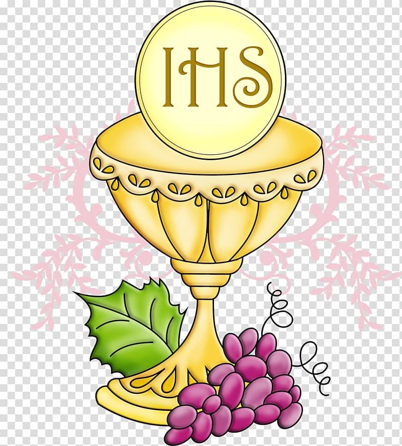 IHS logo illustration, First Communion Eucharist Symbol.