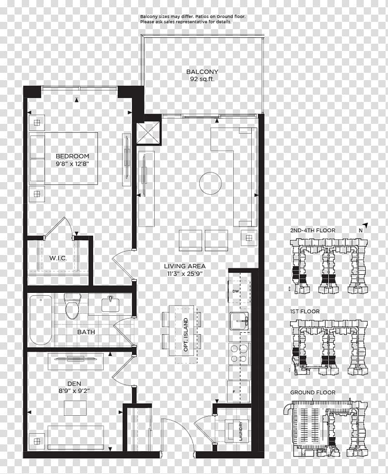 Real Estate Background, Floor Plan, Craftsman Condominium.