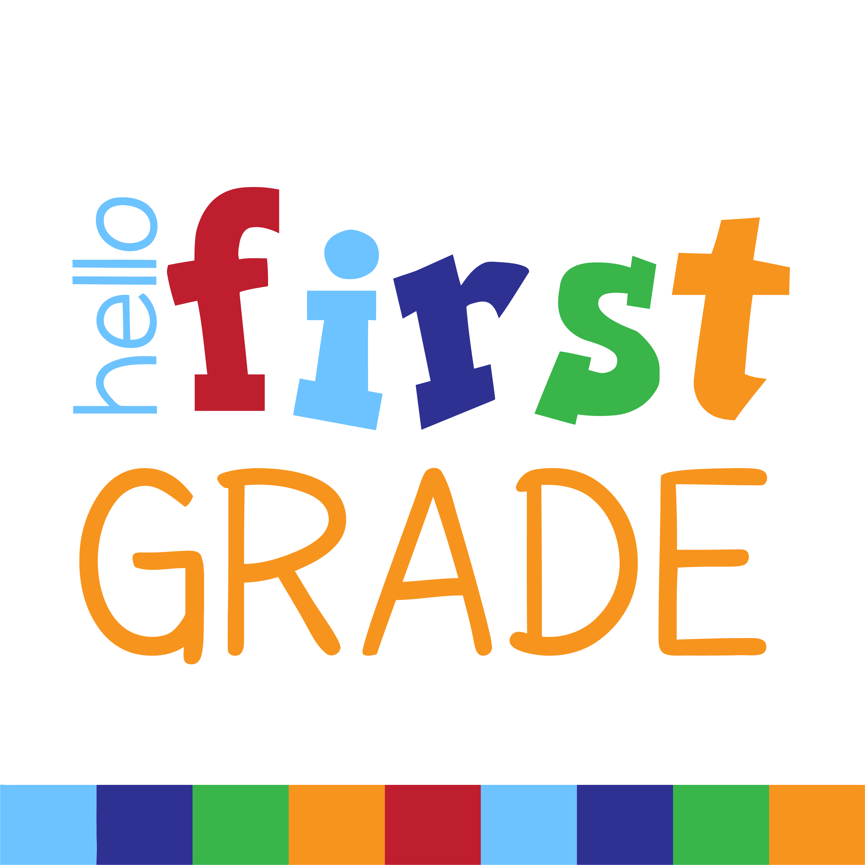 hello first grade clipart png text.