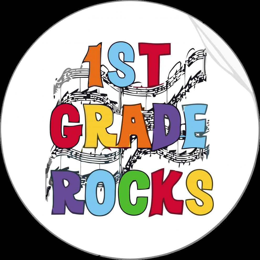 1st grade rocks circle clipart png.