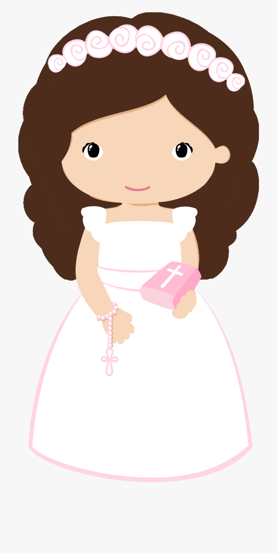 First Communion Girl Clipart , Transparent Cartoon, Free.