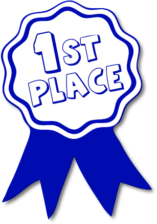 1st Place Award Ribbon Clipart.
