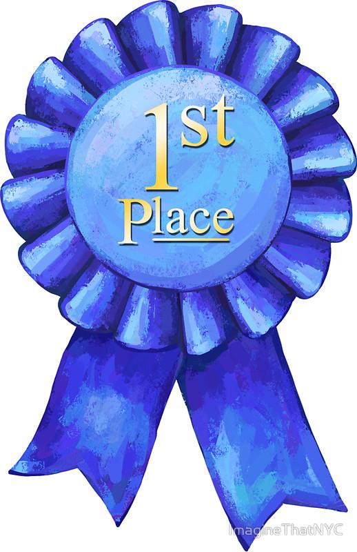 1st Place Blue Ribbon Clipart.
