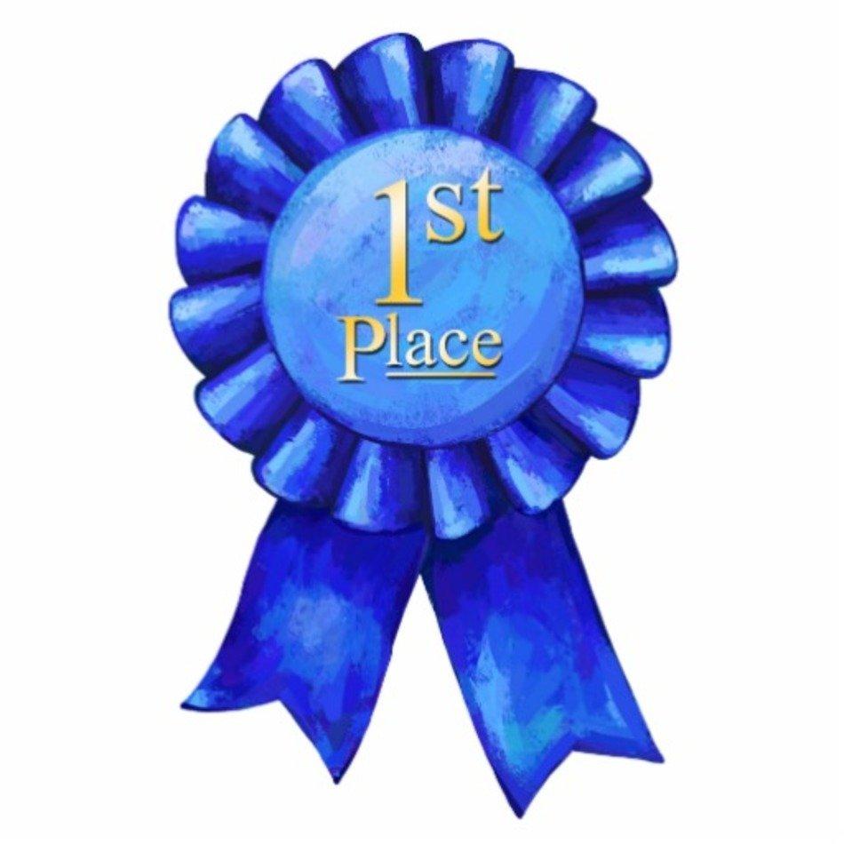 1st Place Ribbon Clip Art free image.