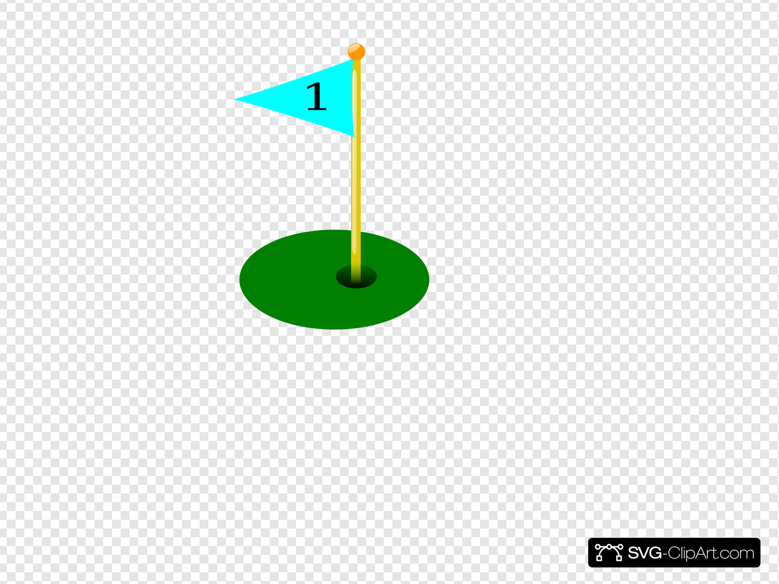 Golf Flag 1st Hole Clip art, Icon and SVG.