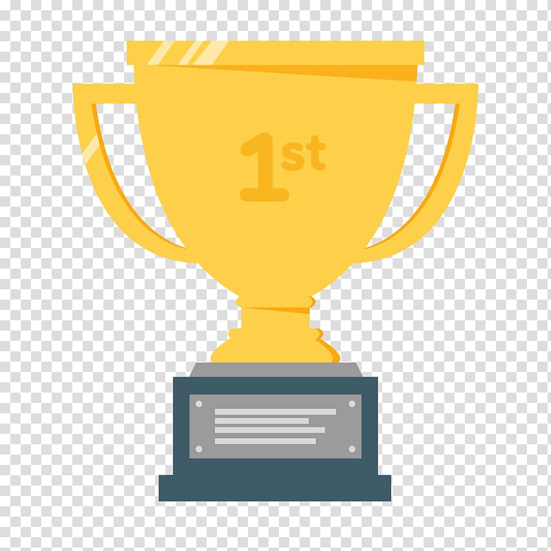 Trophy Pinewood derby Medal , 1st transparent background PNG clipart.