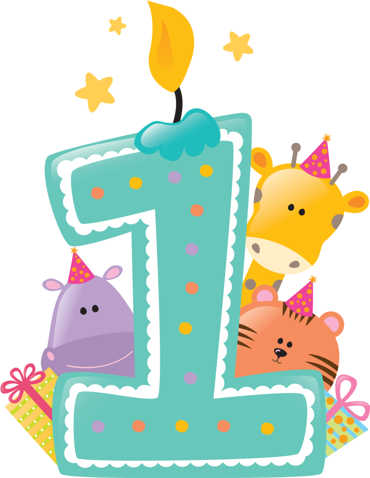 Download Happy First Birthday Png Svg Free Stock.