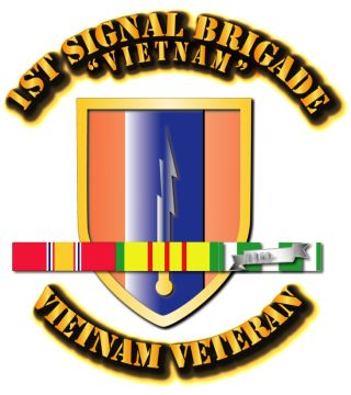 1st Signal Brigade with SVC Ribbon.