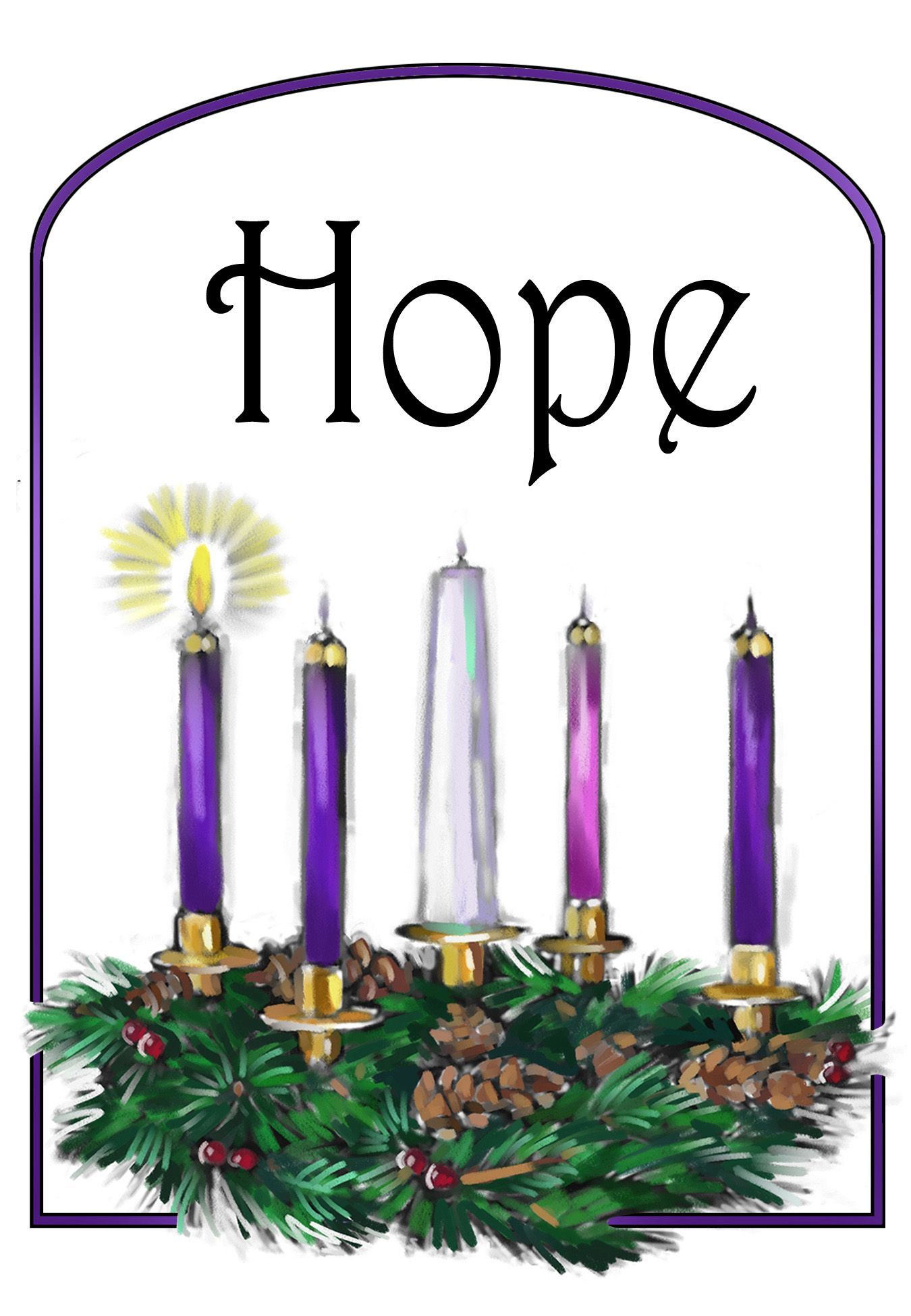 first week of advent candle oit.