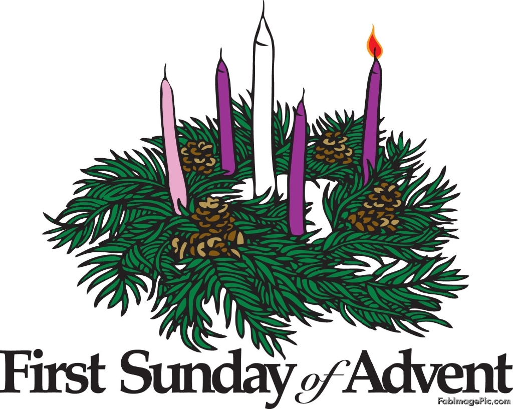 Advent Wreath First Sunday Of Advent Clipart.