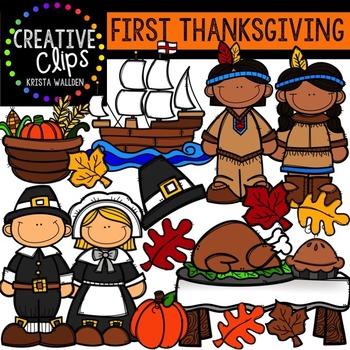 First Thanksgiving {Creative Clips Digital Clipart}.